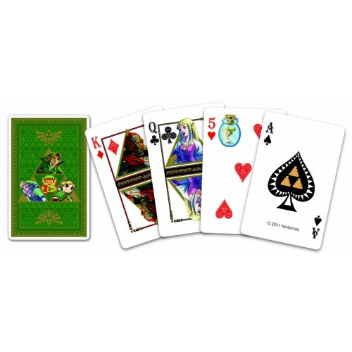 crapyoudontneed:  The Legend of Zelda Playing Cards. Straight from Japan! Just for you!  I need these.