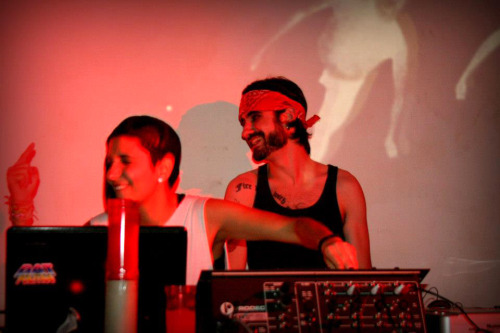 Daniella Holland and me djing last night