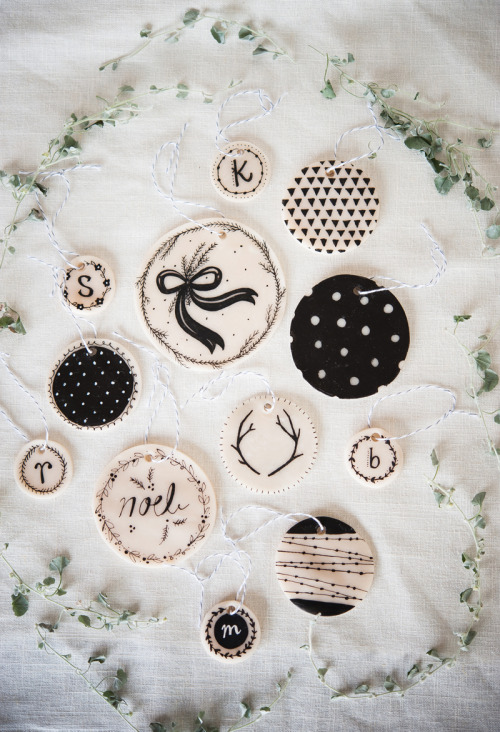 Make your own clay ornaments(via A Beautiful Mess)