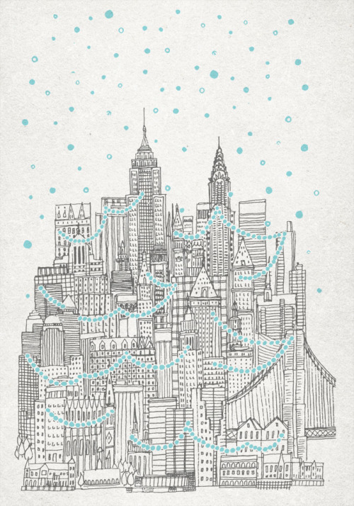 fleck-tesseract:  Winter In New York by David Fleck