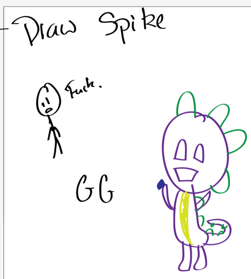 P.S I am not good at drawing spike.