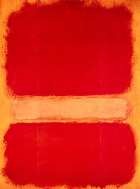 artmastered:  Mark Rothko, 1956, Untitled (Orange on Yellow)