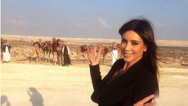 Kim K was in the Middle East and Peace was not reached