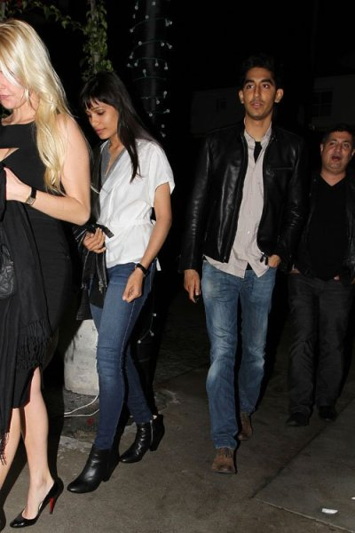 Freida Pinto and Dev Patel out to dinner in West Hollywood last night…