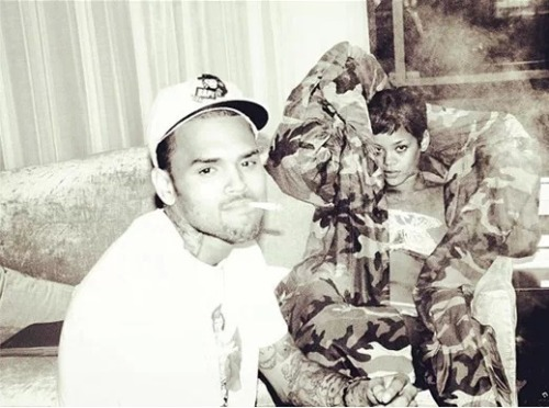 "Well that didn't take long. After ""leaving"" Twitter, Chris Brown is already back and tweeted a picture of him and Rihanna. Check it out above!"