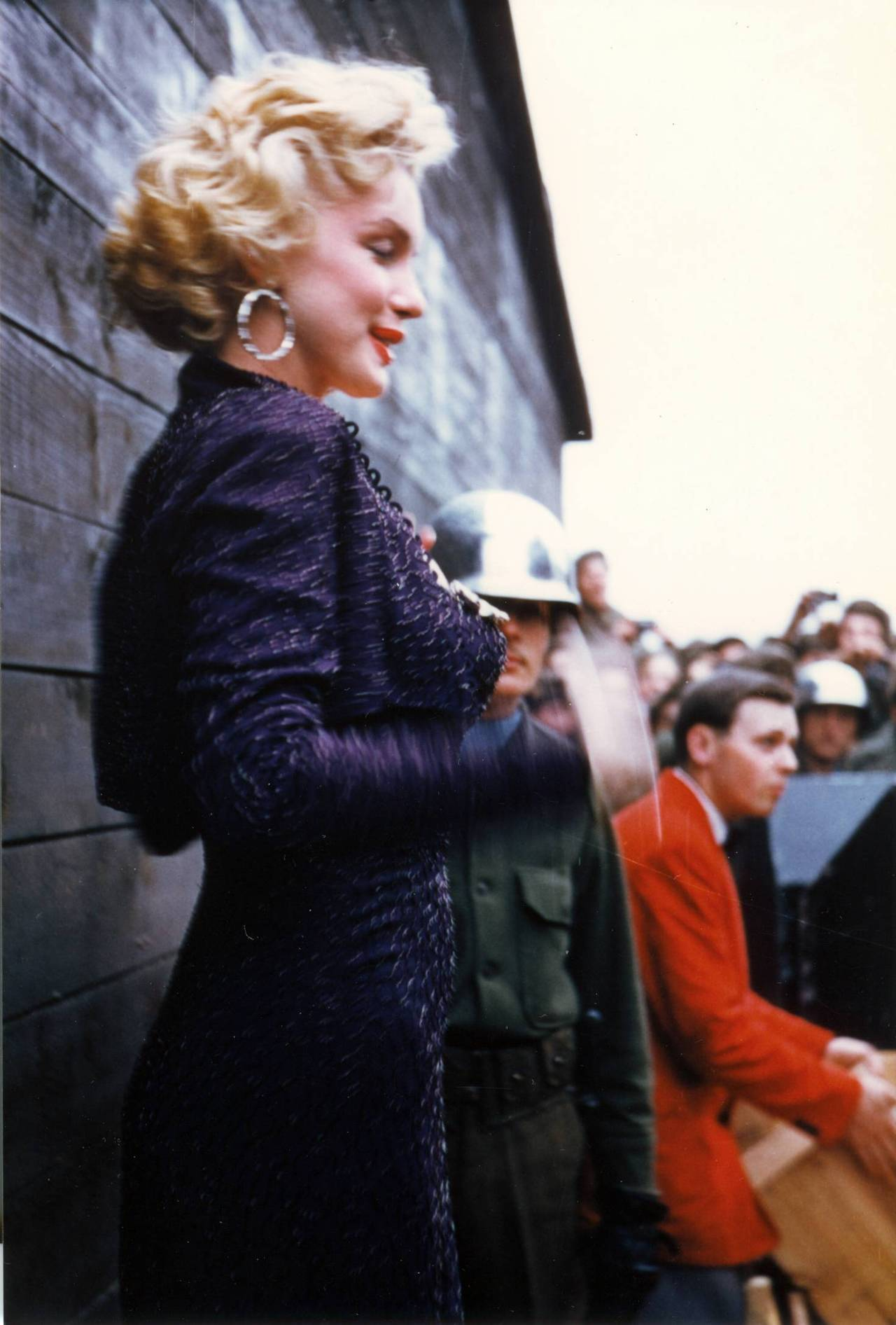 Marilyn Monroe entertaining troops in Korea in 1954