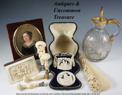 Antiques & Uncommon Treasure : We are just back from a buying trip (France, Italy) and loaded with fabulous new inventory. We'll be listing for the next couple of months just to try to get it all up on our site. Come back regularly, bookmark us and don't miss your favorites. Lots of fine antique French sterling silver coming, too.
