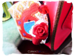 cateaclysmic:  Red Velvet Cupcake Keychain ♥ Cateaclysmic Crafts ♥