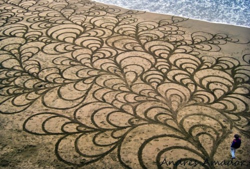 Sand Art Flowering by Andres