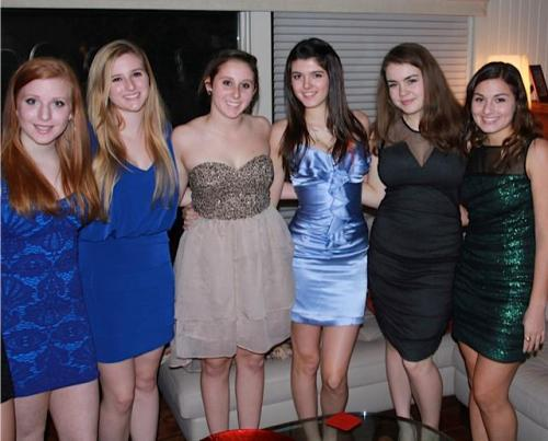 Me and my friends before Winter Ball :) Im in the purple silver dress if btw if you don't know how I look or something