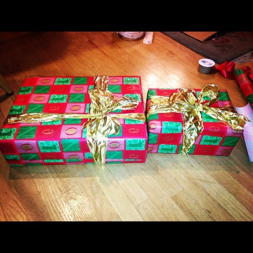 Finishing my wrapping early!
