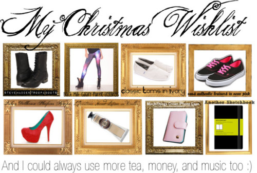 My Christmas Wishlist…cause i don't feel like doing my homework by wardrobeofmylife featuring neon sneakers