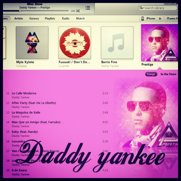 Bought a new album Daddy yankee - Prestige loving it every single track is utterly brilliant #daddyyankee#reggaeton  #instacollage#dance#making#me#dance#propermintalbum#album#prestige#awesome#lovingit#handsome#swag#dope#spanish#daddyyankee#2012