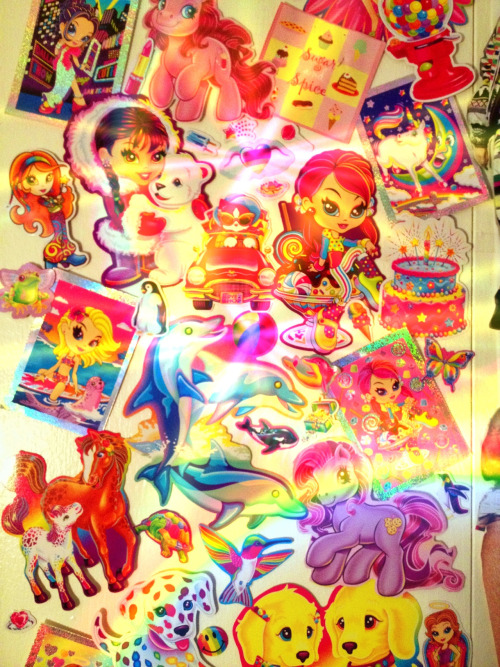 Spent my Sunday afternoon making a Lisa Frank shrine.