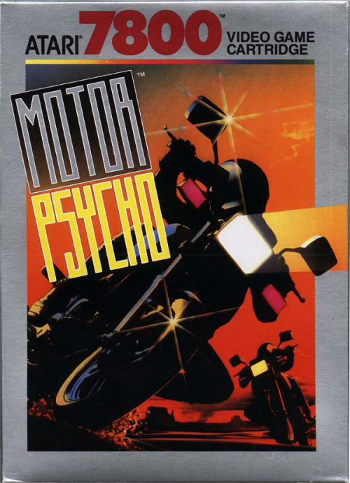 Motor Psycho (1990) on the Atari 7800 has a fairly nice illustration.