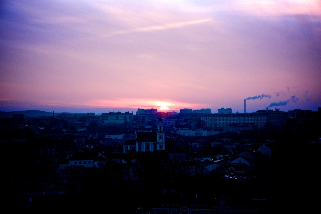 Sunset in Vilnius (Baltica 2012 journey)