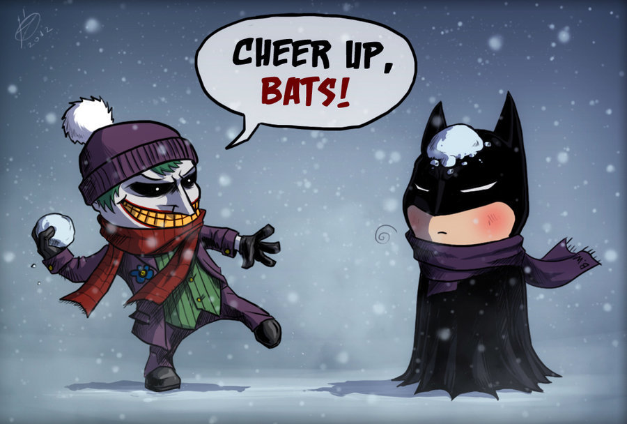 comicsforever:  Snow In Gotham // artwork by DevilHS (2012) The month of the holidays is here! I hope you guys have the best parties until the new year!
