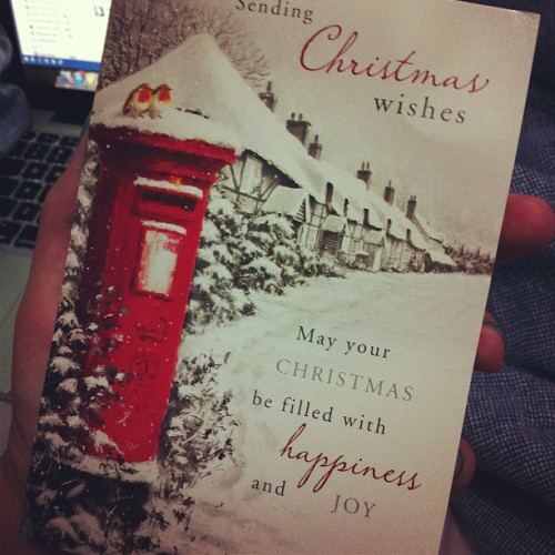 one of the best moments of the year is receiving the Christmas card from my family in England… I love you loads