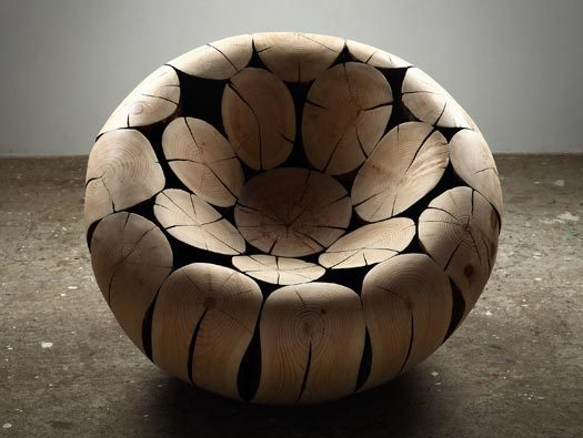 Wooden Sculptures made from Interlocking Wood by Korean artist Lee Jae-Hyo