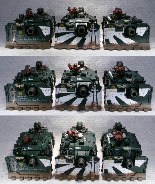 tiny-plastic-dead:  wh40khq:  Dark Angels Line Breaker Squadron  Just… Wow.