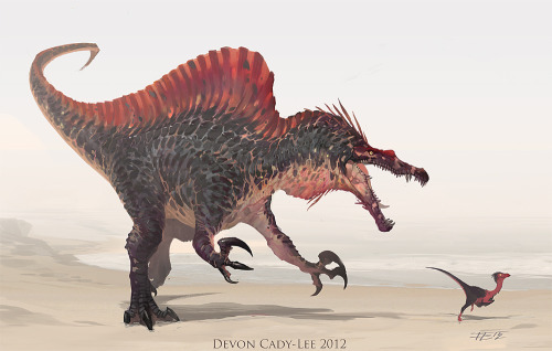 infinitemachine:   Dinosaur of the Day: Spinosaurus Sketch by *Gorrem