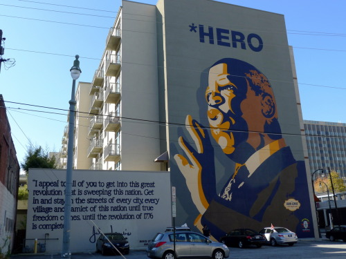 Mural of Civil Right's leader John Lewis, near the Sweet Auburn Curb Market in Atlanta.  Happy Holidays everyone!