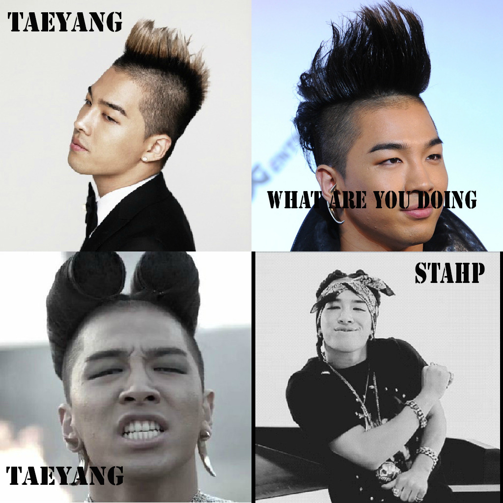 domdommaurice:  I'm sorry but I cannot stand Taeyang's hair.  Taeyang I love you but you need to stop it before I shave it back to normal.