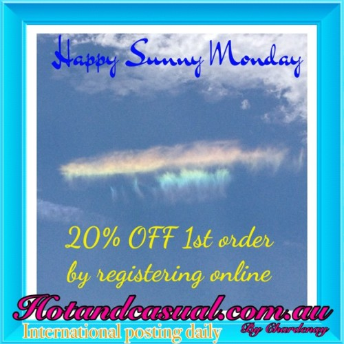 Happy Monday Everybody ☀😍💛 20% OFF 1st Order by registering online www.hotandcasual.com.au #awesome  #love #bff #christmas #all_shot #iphoto  #follow #followback #summer #fashion #tweetgram #pretty #cute #gift #friends #family #bwstyles_gf #beautiful #followme #happy #instamood #instagramhub #instagrammers #iphoneonly #instadaily #iphonesia #instagood #igers #jj_forum #me #nature #photooftheday
