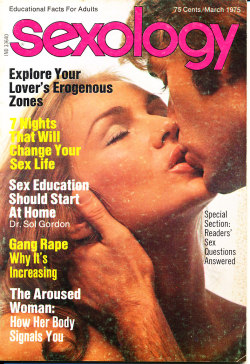 Title: Sexology Other Title: Sexology: Sex Science Magazine Publisher: Gernsback, M. Harvey. New York Frequency: Monthly Publication date: Vol. 41, no. 8 (March 1975) Subject: Sex customs—Periodicals Sex instruction Sex health Other Subject: Explore your lover's erogenous zones 7 nights that will change your sex life Sex education should start at home  Gang rape why it's increasing The aroused woman: how her body signals you Note: Duplicate item available for sale or intuitional donation.