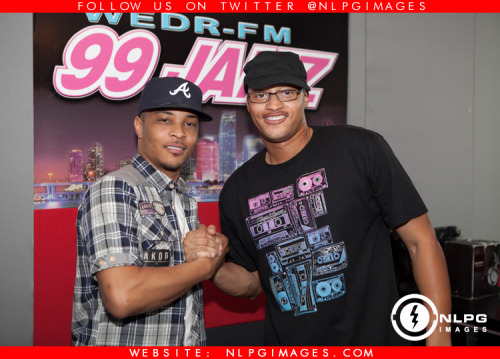 "Photos: Meet and Greet with T.I. (@TIP) at 99 Jamz (@99jamzwedr) and interview with Lorenzo Ice T (@LorenzoThomas) and T.I. newest group D.O.P.E (@GrandHustleDope). Click link to view more photos http://bit.ly/VnaCFy Dec. 18th, 2012 - Trouble Man: Heavy is the Head In Stores!! NLPGimages.com ""We're Everywhere You're Not"""