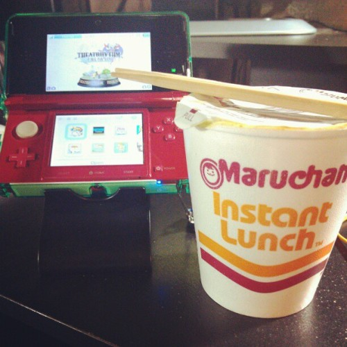 Ramen and gaming tonight. #Nintendo #3DS #gaming #Ramen #food #noodles #videogames