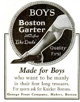 "Made for Boys who want to be manly in their first long trousers. ""Like Dads"""
