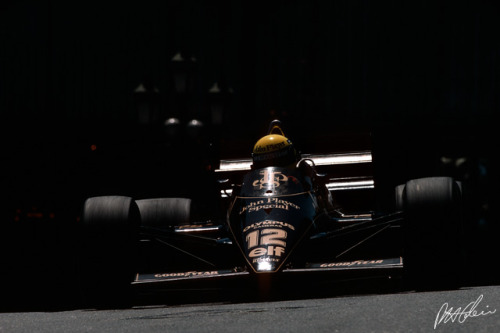 Monaco 1985, Ayrton Senna for Lotus-Renault.