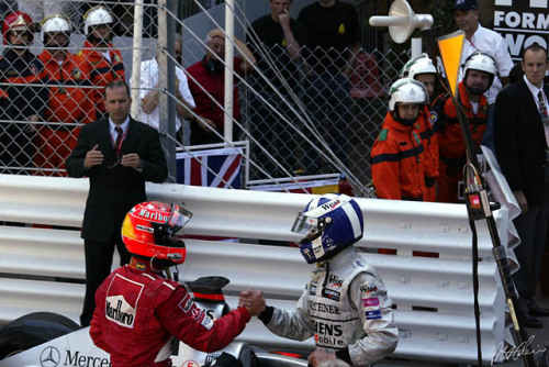 DC and Schumacher, Monaco 2002.