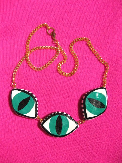burieddiamond:  TRIPLE THIRD EYE NECKLACE