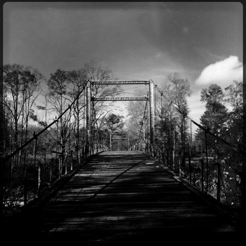 Swinging Bridge, Byram, Mississippi.  Hipstamatic
