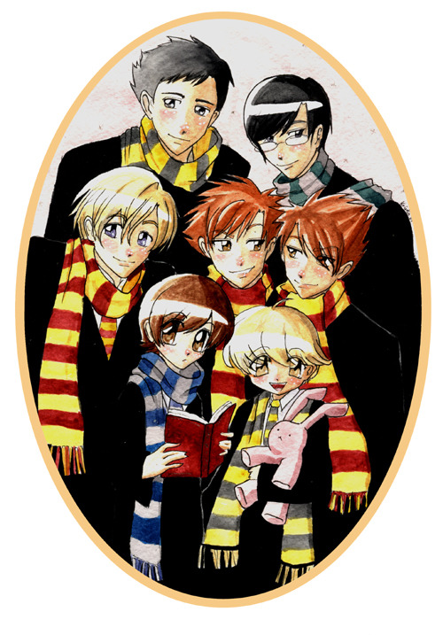 ciaraneedslove:  Would anyone be interested in an Ouran/HarryPotter crossover fic?  I've already written the first chapter but It would be nice to know if anyone would genuinely read it:3 Like this post or message me if you'd like to see the story go up soonXD If you want you can check out my other fic at Fanfiction.net, my pen name over there is electriclime22 By the way the art isn't mine. I'd credit the source but I've got no idea who they are. If anyone knows let me know please.