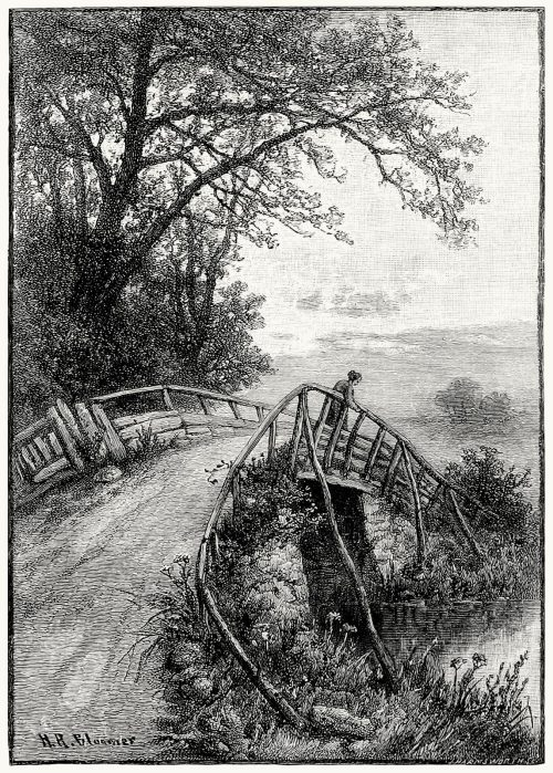 An old bridge.  H. R. Bloomer, from The magazine of art vol. 10, London, 1887.  (Source: archive.org)