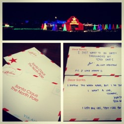 LETTERS TO SANTA!! #allofthelights #lights #beautiful #santa #christmas #letters #love #northpole #picstitch