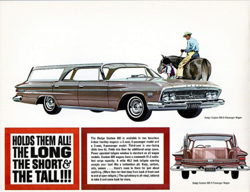 1962 Dodge Custom 880 Hardtop Station Wagons by aldenjewell on Flickr.1962 Dodge Custom 880 Hardtop Station Wagons