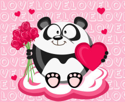 February Panda Valentine's Day by ~MHbilder