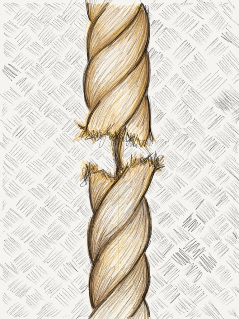 Hanging on by a thread… by artisticdorkdoodles:  This took a while, I was so tired by the time I finished it last night I forgot to post it!
