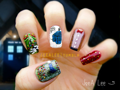 Doctor Who Nails | The Doctor, The Widow, And The Wardrobe