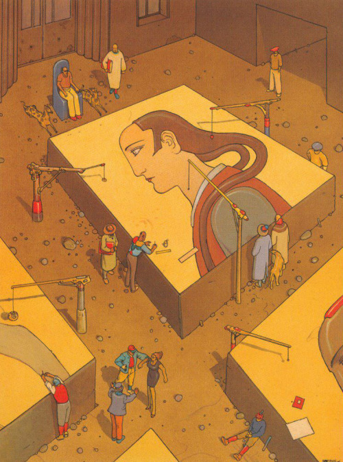 bibeim:  Octobre Orange in Le Papier Génial, Moebius (2007)