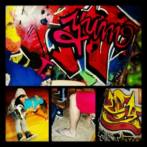 #SundayFunday @ #HouseofStyles - #50degrees of Fun / #WiLDANiMALS / Dem #aZn leGZ r tuFF! / It's been toO lonG :( #fwends #graffiti #longoverdue #ReCKLeSS #youresogeneroushouse! #whatsyourmythalogicalcreature :'D  @bboyhouse @meknowfsc @c_rawk @ser_v1