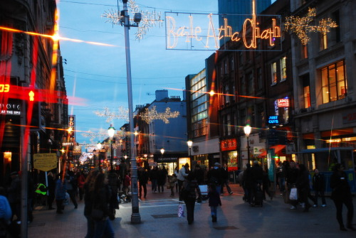 Dublin, Ireland @ Christmas time (O'Connell St)