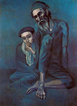 nyrista:   Pablo Picasso, Old Blind Man with Boy                psicoquinesia.