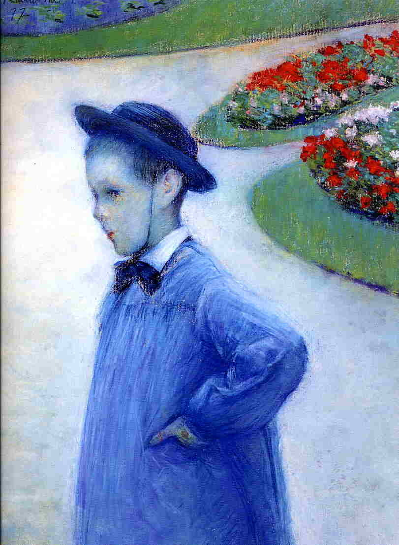 Gustave Caillebotte, Camille Daurelle in the Park at Yerres