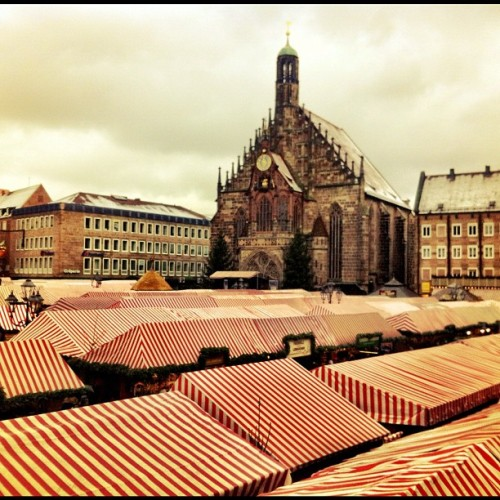 Nuremberg, Germany's most famous  #Christmas Market seen from above. #xmasinbavaria #bavaria #germany