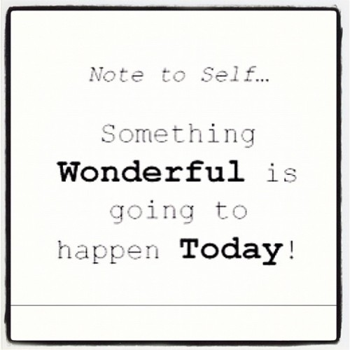 #MondayMotivation: Something WONDERFUL Is Going To Happen Today #inspiration #typography #bestoftheday (at Jupiter Beach)